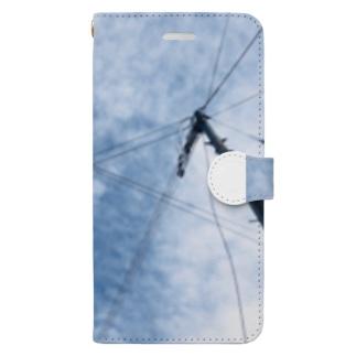 空 スマホケース Book-style smartphone case