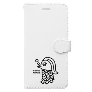 エクレアンショップの眠いアマビエ Book-style smartphone case