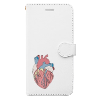 OGNdesignの心臓 内臓 Heart NO.18 Book-style smartphone case