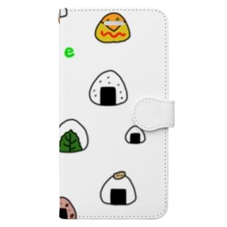 カラフルおにぎり Book-style smartphone case