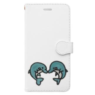 イルカの友達 Book-style smartphone case