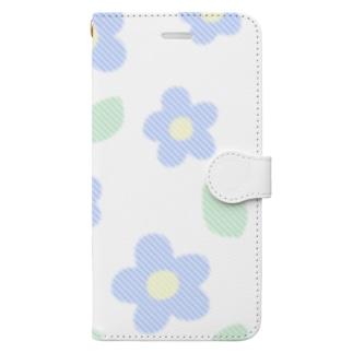 お花と葉っぱ Book-style smartphone case