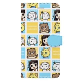 初葉神社の仲間たち Book-style smartphone case