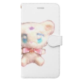 くま Book-style smartphone case