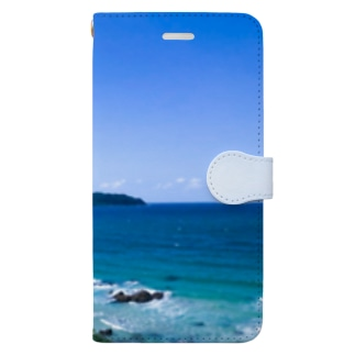 ひまの青い景色 Book-style smartphone case