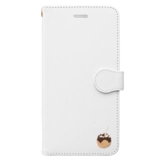ポツンとたこやき Book-style smartphone case