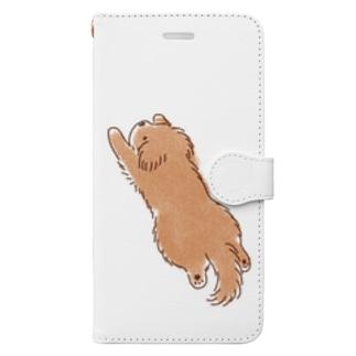 こぐま犬スーパーマンのポーズ Book-style smartphone case
