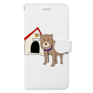 顔が四角い犬🐶 Book-style smartphone case