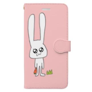 うさこ(pink) Book-style smartphone case