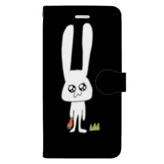 うさこ(black) Book-style smartphone case
