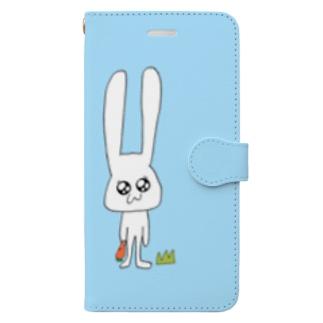 うさこ(light blue) Book-style smartphone case