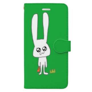 うさこ(green) Book-style smartphone case