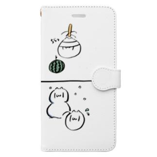 おめがねこ シーズン Book-style smartphone case