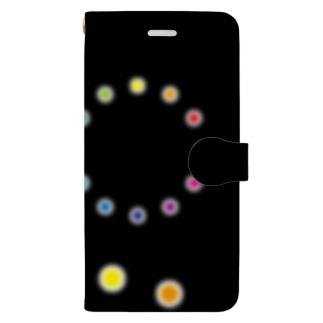 色相環の花火 Book-style smartphone case