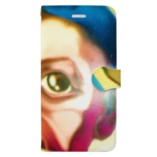 MOPIE GAME -ムーピーゲーム-のイタリアンボーイのイラスト Book-style smartphone case