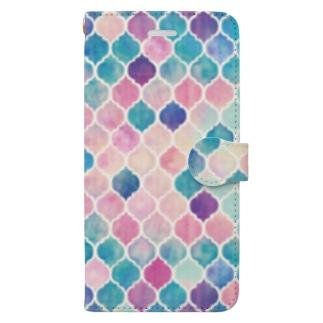 幾何学模様1 Book-style smartphone case