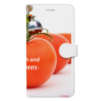 y's papa ハッピーフロッグ Book-style smartphone case