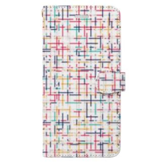 幾何学模様2 Book-style smartphone case
