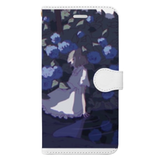 紫陽花 Book-style smartphone case