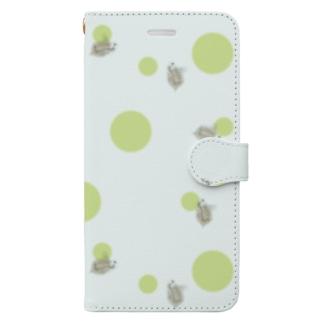 微生物・ミジンコ Book-style smartphone case