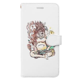 三面大黒天 Book-style smartphone case