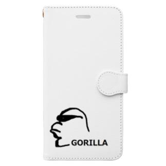 アメリカンベースのサングラスゴリラ  Book-style smartphone case