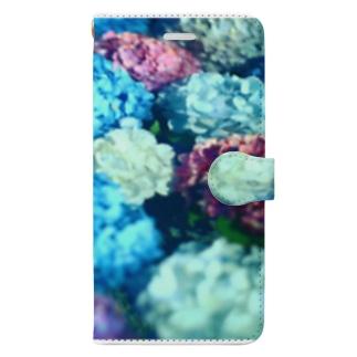 水と紫陽花 Book-style smartphone case