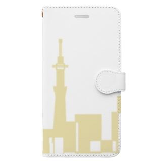 アメリカンベースの東京シルエット Book-style smartphone case