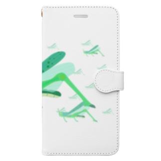 サバクトビバッタ 孤独相 群体・蝗害  Book-style smartphone case