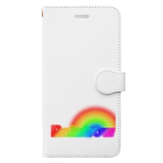 レインボー Book-style smartphone case