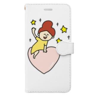 pocaのお絵描きのハートのお届け♡ Book-style smartphone case