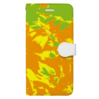 springBのHimawari Book-style smartphone case