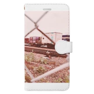 貨物車両基地 Book-style smartphone case