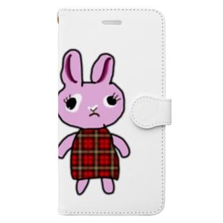 機嫌のワルいうさぎ Book-style smartphone case