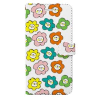 カラフルお花さん Book-style smartphone case