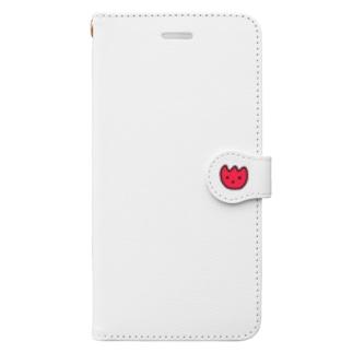 赤いチューリップ Book-style smartphone case