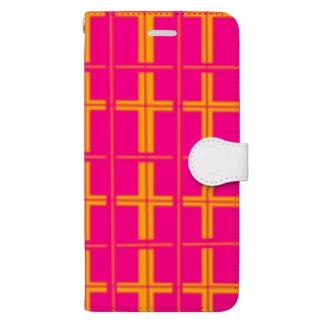 Isariショップのオリジナル チェック柄 Book-style smartphone case