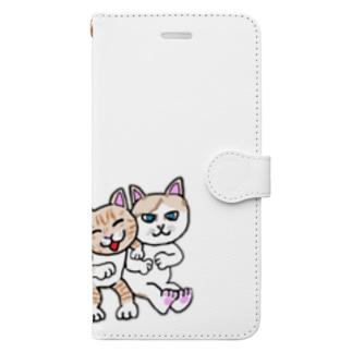猫ちゃんファミリー Book-style smartphone case