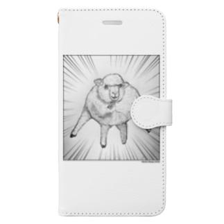 マッチョ羊2020_1 Book-style smartphone case