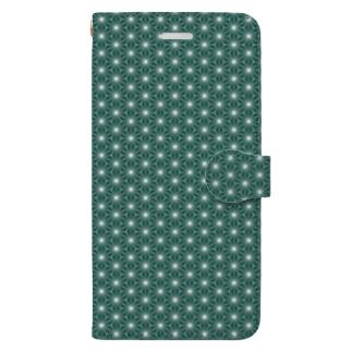 麻の葉 肆 Book-style smartphone case