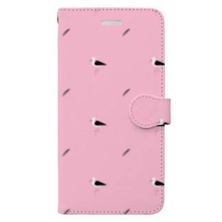 セイタカシギ模様 Book-style smartphone case