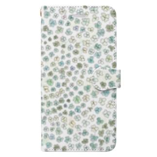 クローバーいっぱい♪ Book-style smartphone case