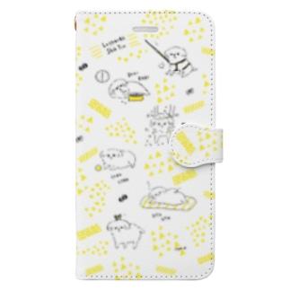 脱力系シーズーの1日  Book-style smartphone case