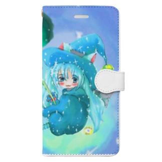 魔法少女ゆるmiku with 使い魔にゃんズ Book-style smartphone case