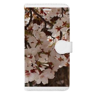 桜 サクラ cherry blossom DATA_P_152 春 spring Book-style smartphone case