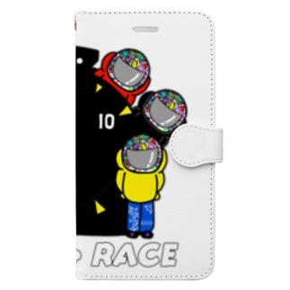 #ボートレーサーくん 大集合 Book-style smartphone case
