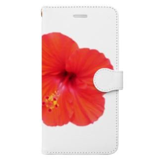 ハイビスカス・レッド① Book-style smartphone case