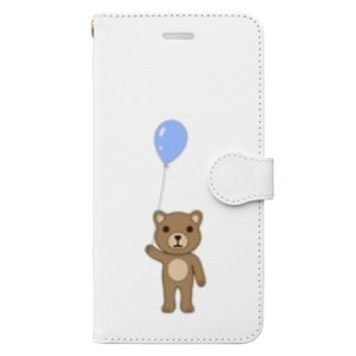 クマ Book-style smartphone case