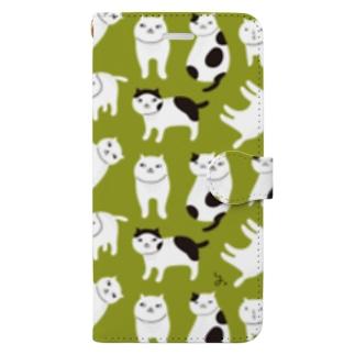 ねこファイブ若草 Book-style smartphone case