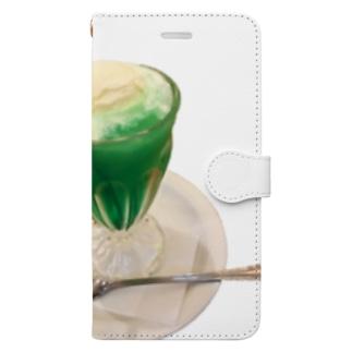 大好きクリームソーダ Book-style smartphone case